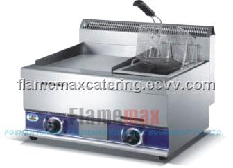 11L Gas Fryer with Gas Griddle