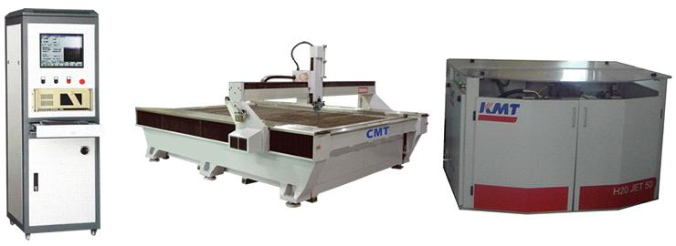 CMT Waterjet Cutting Machine Powered By KMT H2O Jet Pump