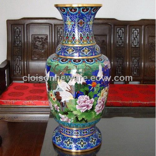 Chinese China Cloisonne Copper Bronze Enamel Vase B10 Purchasing