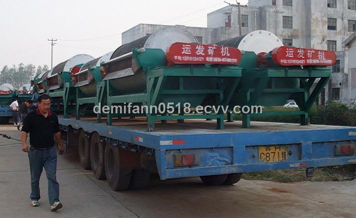 Drum permanent magnetic separator for river sand