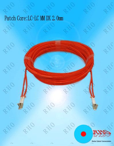 Multi-mode LC to LC Duplex Fiber Optic Patch Cord