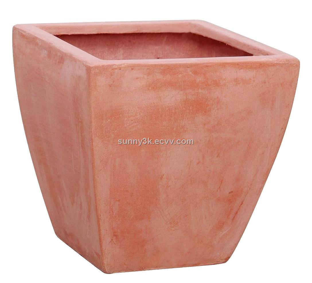 Short square flower potsft8043