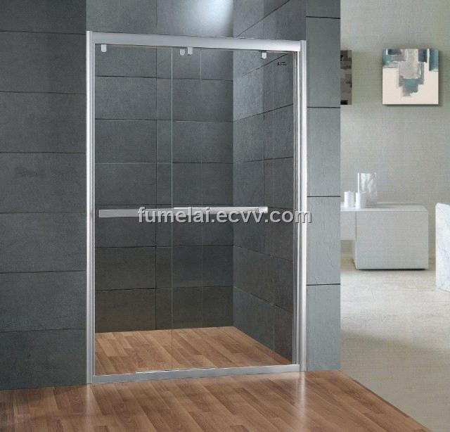 Shower door with frame two sliding door 8mm tempered purchasing ...