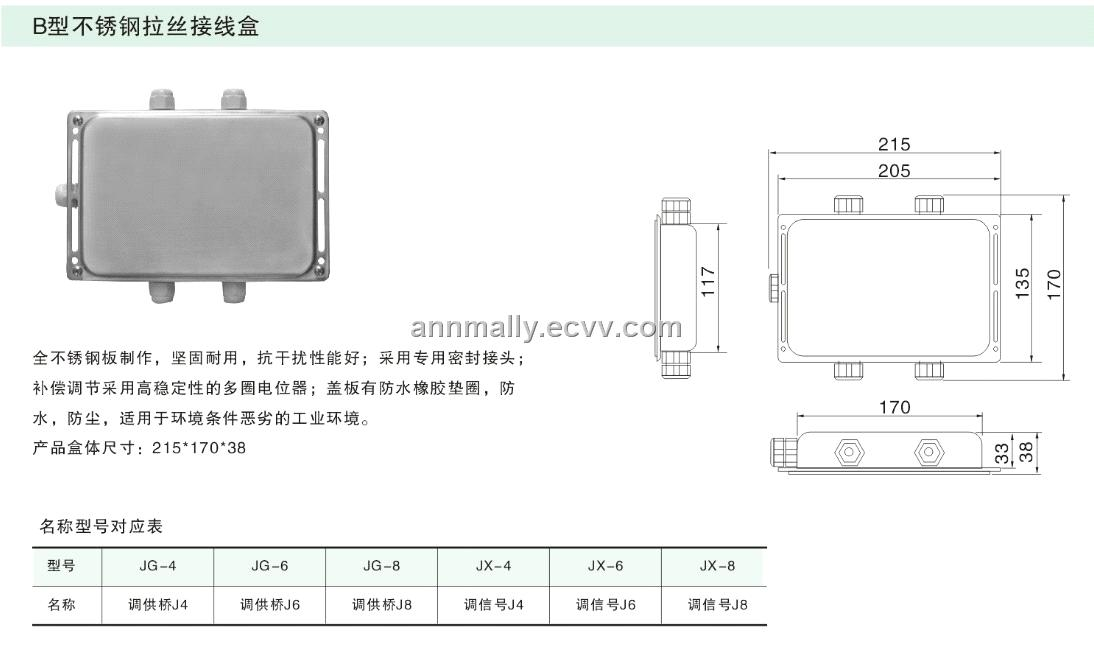 Stainless Steel Junction Box Size A B C D Ss304