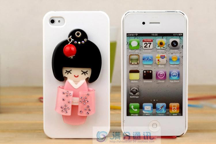 buy popular 3868e 73a20 Unique diamond mobile phone cases with Kimono girl