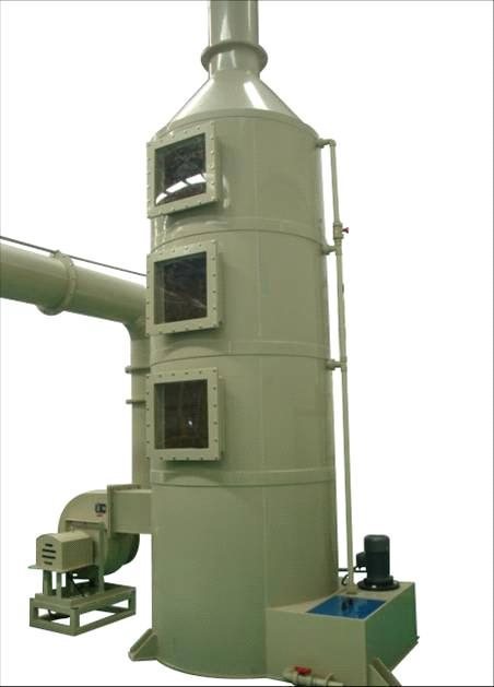 exhaust gas treatment tower