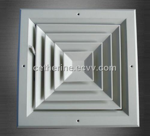 Squate Air Diffuser With Damper From China Manufacturer