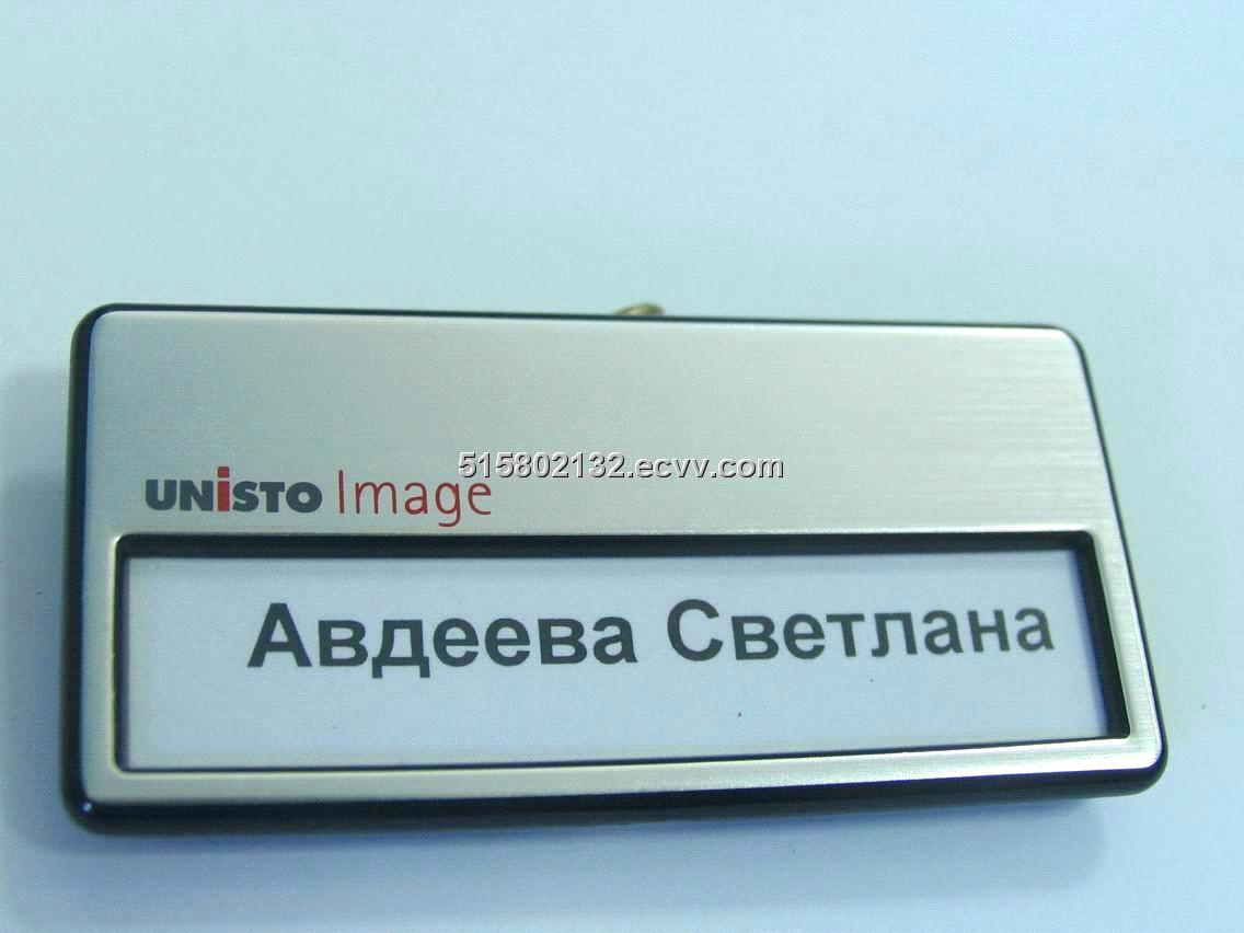 magnetic name badgemetal label metal name plate metal sign - Magnetic Name Badges