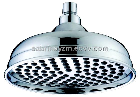 8-inch Brass Rain Shower Head with Nipple and Chrome-plated Finish