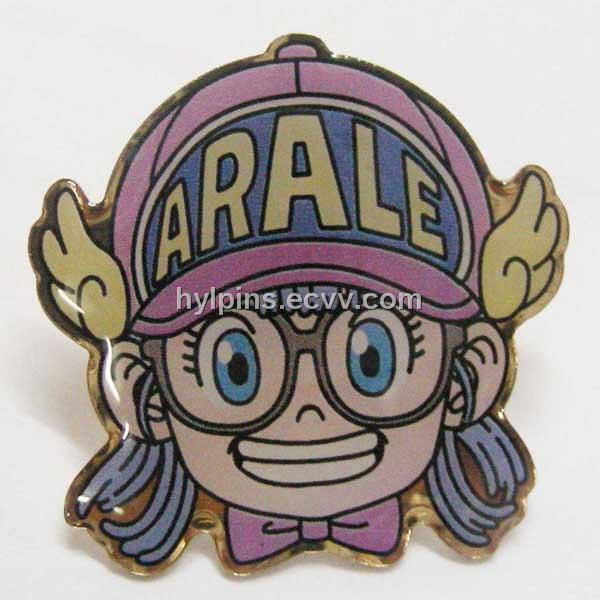 Arale Brass Printing Lapel Pin