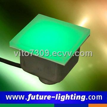 Dc24v Rgb Toughened Gl Floor Led Tile Lights