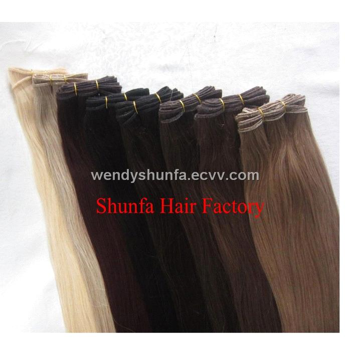 Kinky Straight Chinese Human Hair Extensionhair Weftshair Weaving
