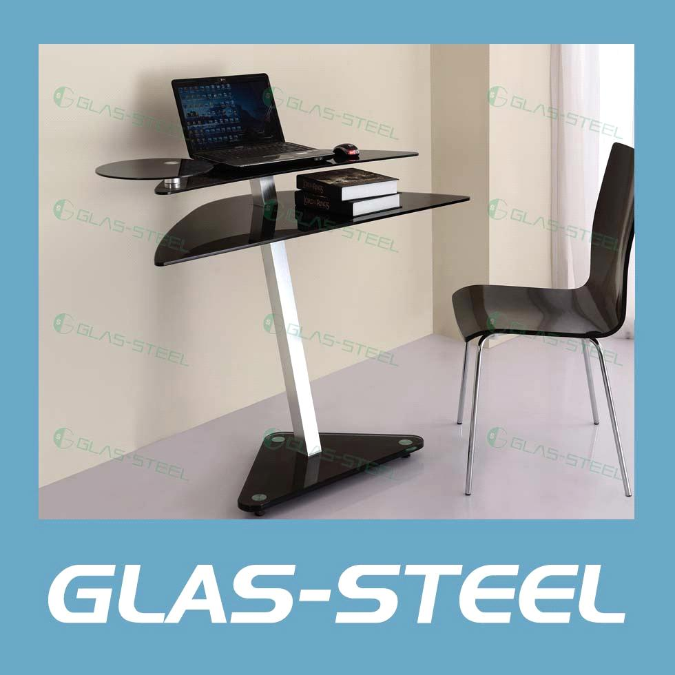 Led Metal Glass Computer Table