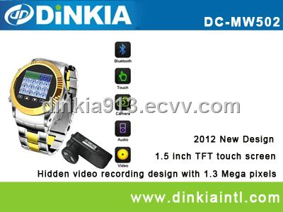 Metal-made MP3/MP4 Mobile Phone Watch with Camera DC-MW502