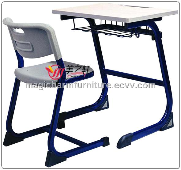 Plastic student desk chair school desk chair student table for School furniture from china
