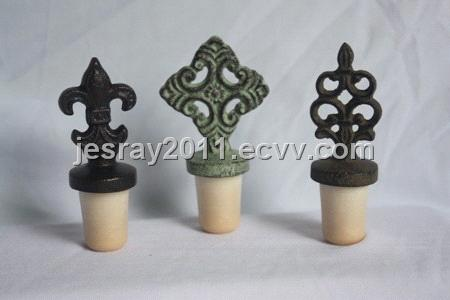 Wine Bottle Stoppers Synthetic Cork Stoppers Gift Metal Craft