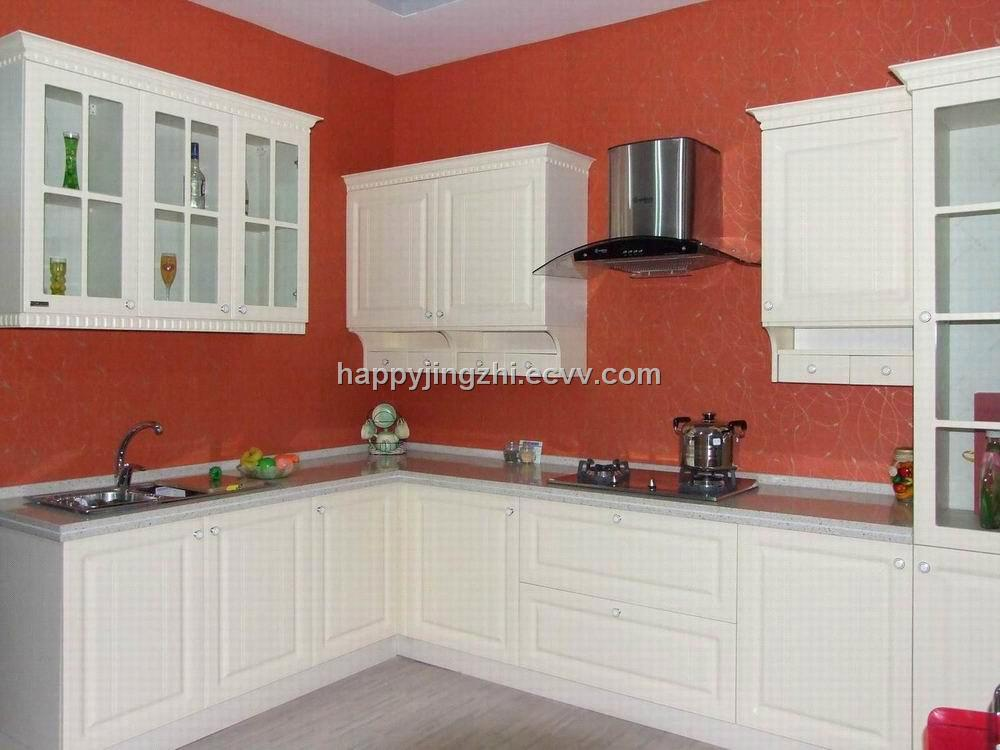 Semi Gloss Pvc Modular Kitchen Cabinet