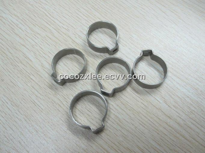 single ear stainless steel hose clamps pipe clips from China