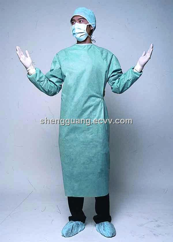 35g SSMMS Disposable Surgical Gown with Reinforcement purchasing ...