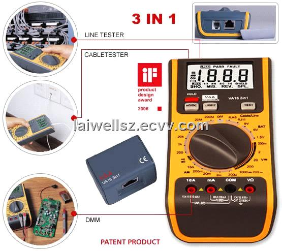 VA16 3 IN 1 Network Multimeter