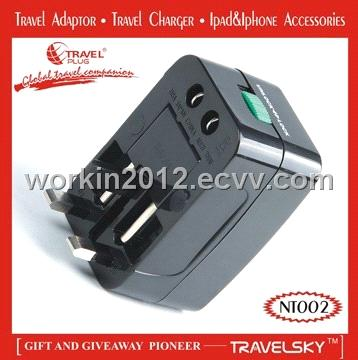 2012 TOP Special Gift Item AC Adapter Plug With Surge Protect (NT002)