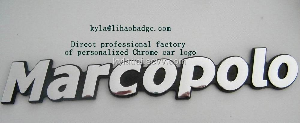 ABS Chrome car logo, Chrome car nameplate, Chrome car emblem, Chrome nameplate