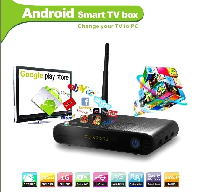 Google Android 4 0 TV BOX Media player with DVB-T tuner