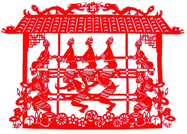 Popular Traditional China Paper Cutting Artcrafts For Window
