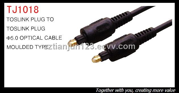 The fiber optical cable of toslink plug with 1.0mm PMMA core