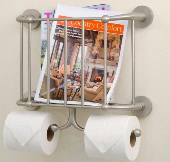 Wall Mounted Magazine Rack And Double Toilet Tissue Holder Enchanting Toilet Paper Holder With Magazine Rack