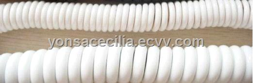 YONSA Medical Facilities white spiral cable coiled cord