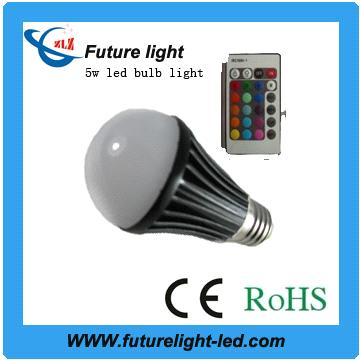 rgb 16 color led bulb with control