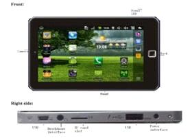 7-inch Tablet Phone, Android OS/SIM Slot/Resistive Screen, Quad Band 850/900/1800/1900MHz Phone Call