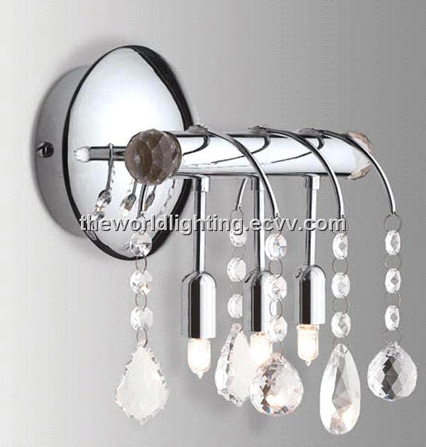 Bl6001 Chrome Metal Stand Crystal Decoration Modern Simple Bathroom
