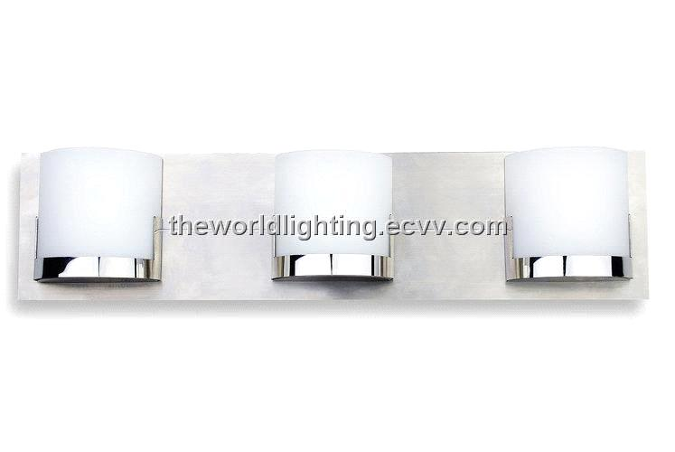 Bl6012 Chrome Metal Stand Glass Cover Modern Bathroom Vanity