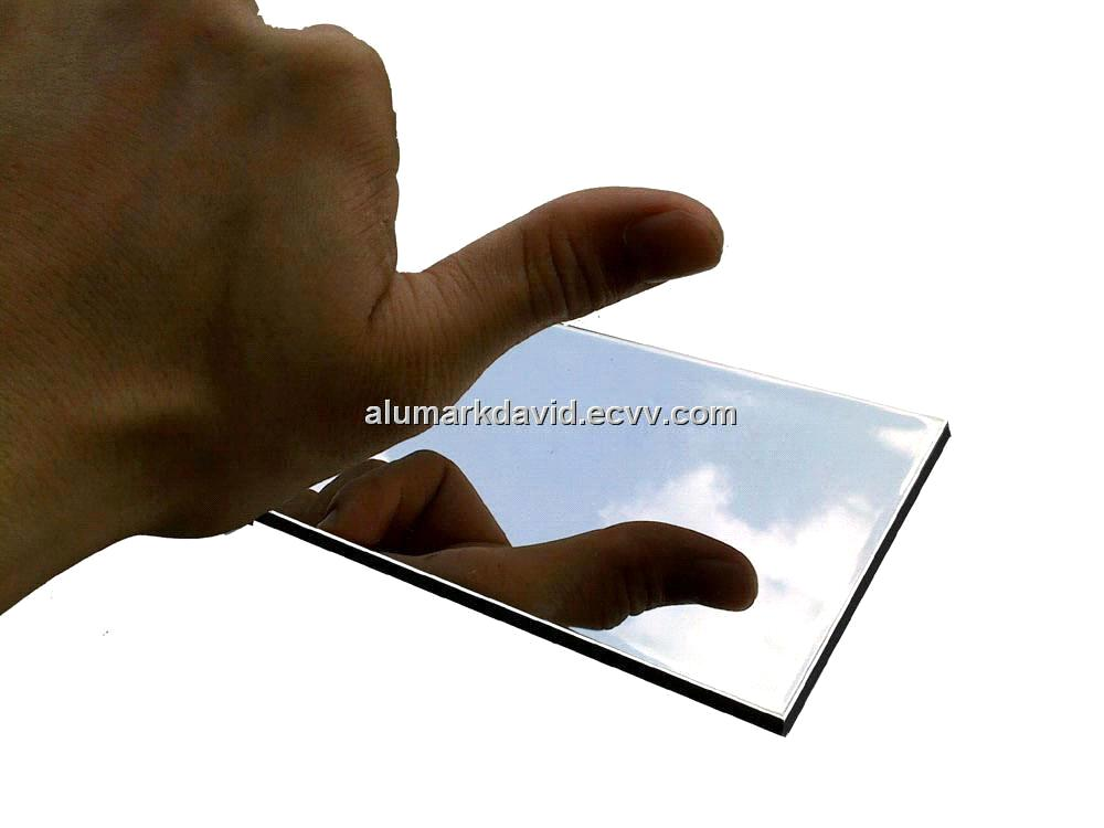 Mirror Finished Aluminum Plastic Panel Board Sheet From