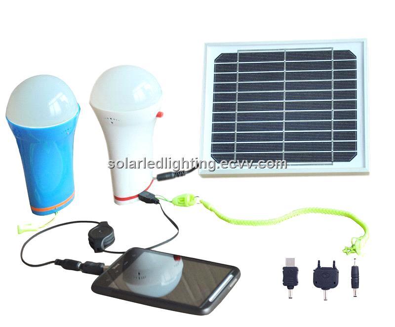Amazing Solar Panel With Led Light Part - 14: Multifunction Portable Solar Led Light Bulb With ChargerSolar Panel Led Bulb