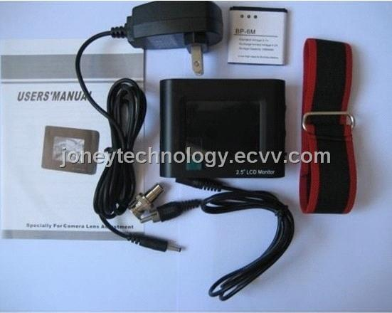 2.5 Inch 3.5 Inch CCTV Monitor Tester for CCTV Camera Lens Testing