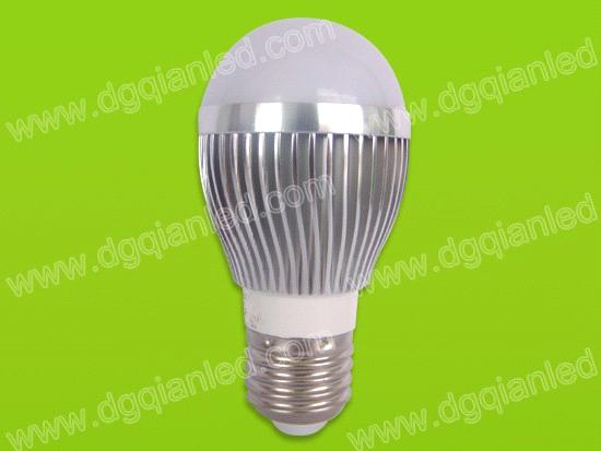 3W Pure White LED Bulb Light