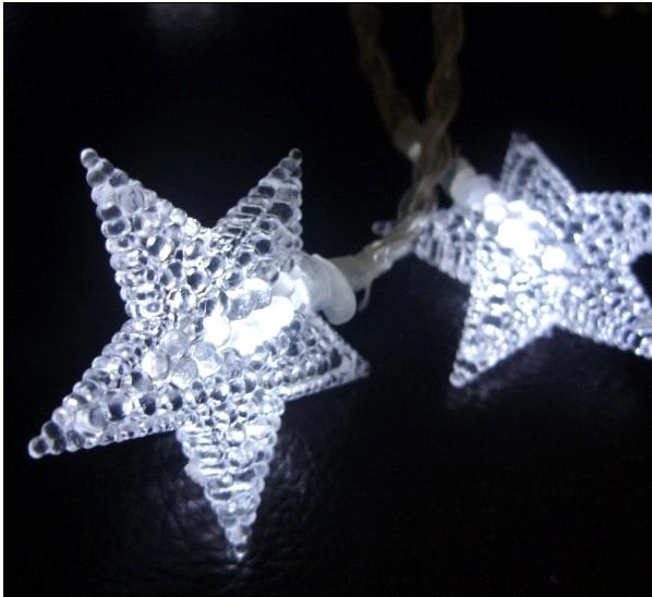 4.5V-20L-LED light garland with pearl star