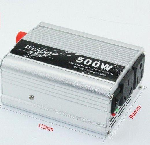 500W Power Inverter DC 12V to AC 220V with USB for Auto Adapter