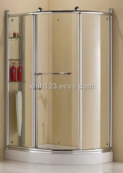 Aluminum alloy frame shower enclosures,1200mm safety glass shower ...