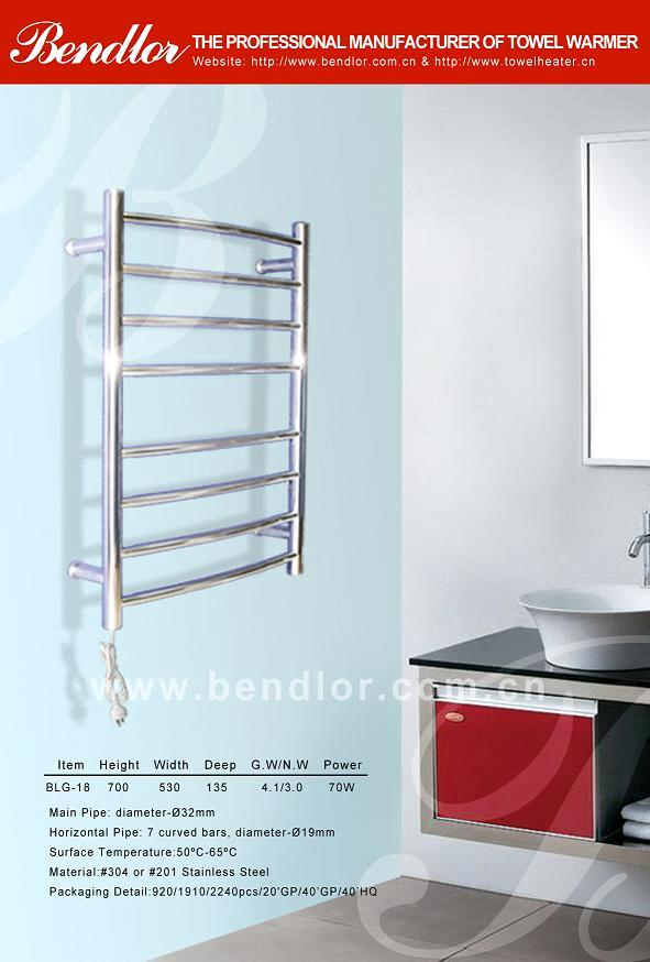 Bathroom Use And Ladder Style Electric Heated Towel Rail