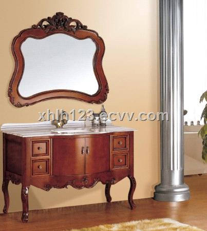 Cheap Oak bathroom cabinets, Hand carved bathroom cabinet Foshan Danfengbailu