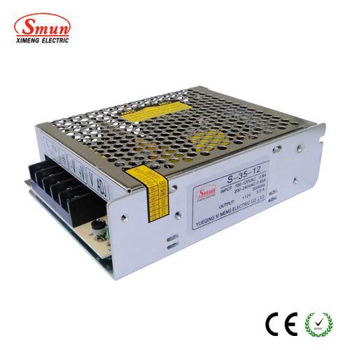 High efficiency AC to DC Single output Switching power supply (S-35)