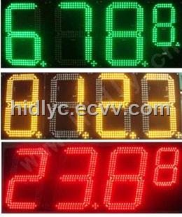 LED gas station price changer