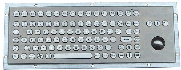 Metal Keyboard with Function Keys and Trackball (X-BP92B-S)