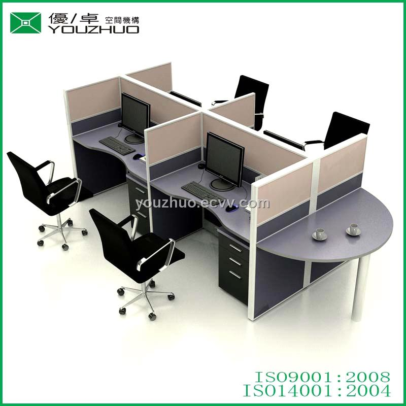 D6 New Design Wood Workstations Office Furniture