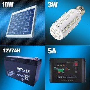 Captivating Portable Solar System With LED Light, Battery, Charger, Home Indoor/Outdoor  Lighting
