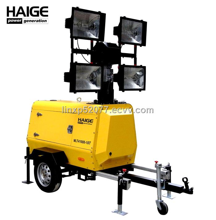Portable Light Tower Price: Telescopic Mobile Lighting Tower MLT41000-10T Purchasing